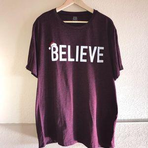 Believe Santa Tee Shirt XXL